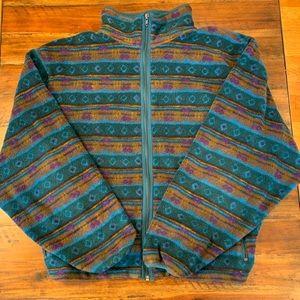 L.L. Bean vintage zip multicolored fleece jacket